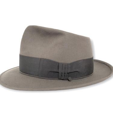 "Vintage 1950s BORSALINO ""Torino"" Fedora ~ size 7 1/4 ~ Stetson Whippet Style ~ Cavanagh Edge ~ by SparrowsAndWolves"