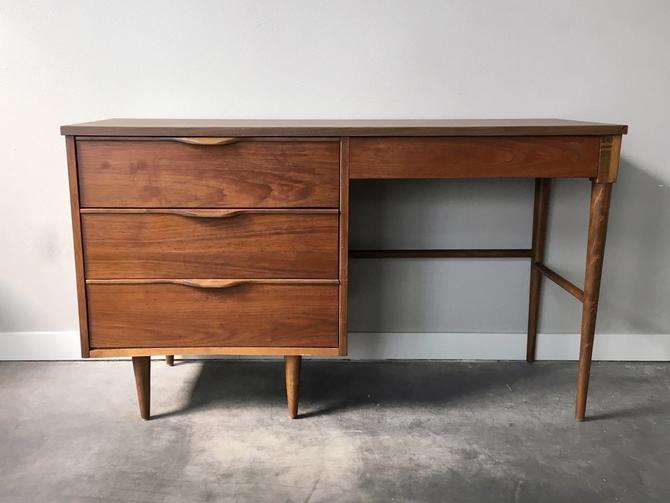 vintage mid century modern desk by BP John.