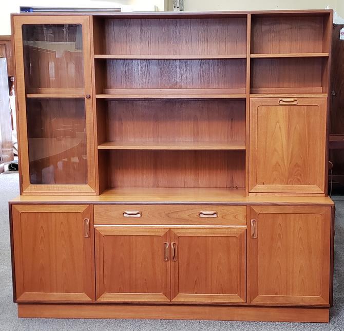 Item #S96 Vintage G-Plan Teak Hutch Bar Cabinet Bookcase c.1960s