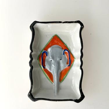 Vintage Elephant Themed Trinket Dish by FunkyRelic