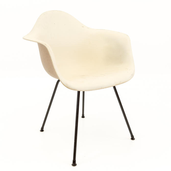 Eames for Herman Miller Mid Century Modern Molded Plastic X-Base Shell Chairs - mcm by ModernHill
