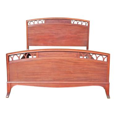Vintage Mahogany Federal Style Double Full Size Bed