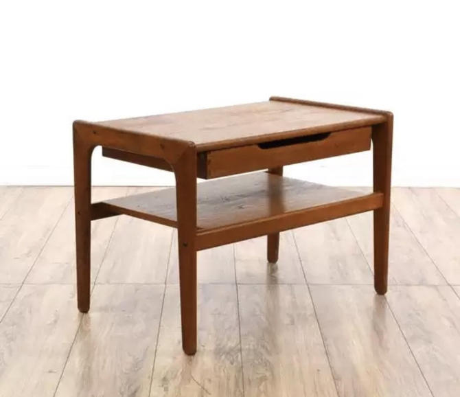 Free Shipping Within US - Vintage Danish Mid Century Modern Modern Teak Table Stand by BigWhaleConsignment
