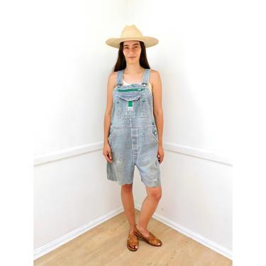Painters Overalls // vintage Liberty 70s denim shorts boho hippie jean jeans dress jumpsuit painter's // O/S by FenixVintage