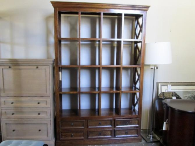 BOOKCASE WITH SIX DRAWERS