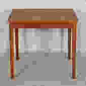 Petite Danish Modern Teak Expanding Square Dining Table