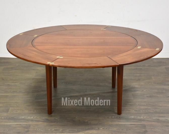 """Danish Extension Dyrlund """"Flip Flap"""" Dining Table by mixedmodern1"""