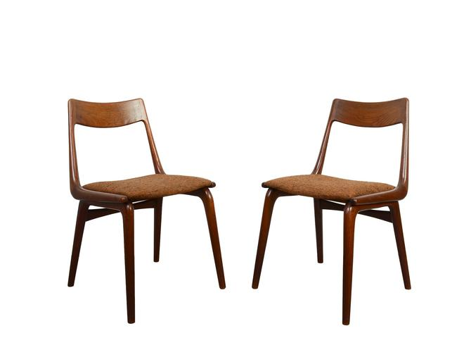 Boomerang Dining Chairs designed by Erik Christensen for Slagelse Mobelvaerk Teak Dining Chair by HearthsideHome