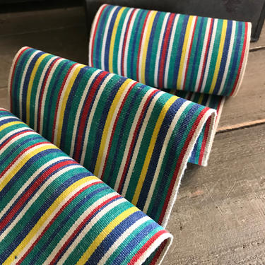 Canvas Deck Chair Fabric Trim, French Galon,, Striped, Period Sewing Project Textiles by JansVintageStuff