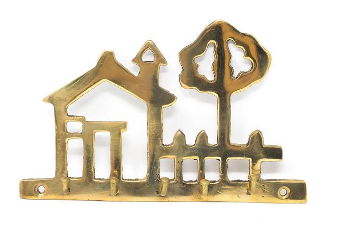 Vintage Brass Key Hook, Wall Key Rack by GreenSpruceDesigns