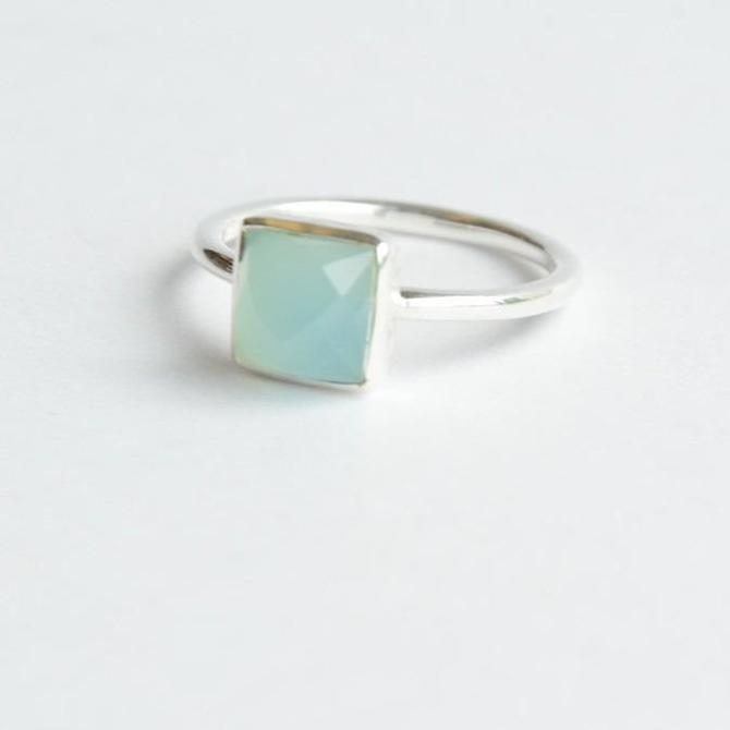 Sultry Sea Ring in Chalcedony by Fair Anita