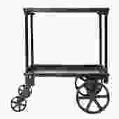 Cast Iron and Steel Serving Cart