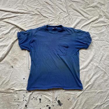 Vintage 80s Stedman Hi-Cru Thrashed Pocket Tee Shirt by NorthGroveAntiques