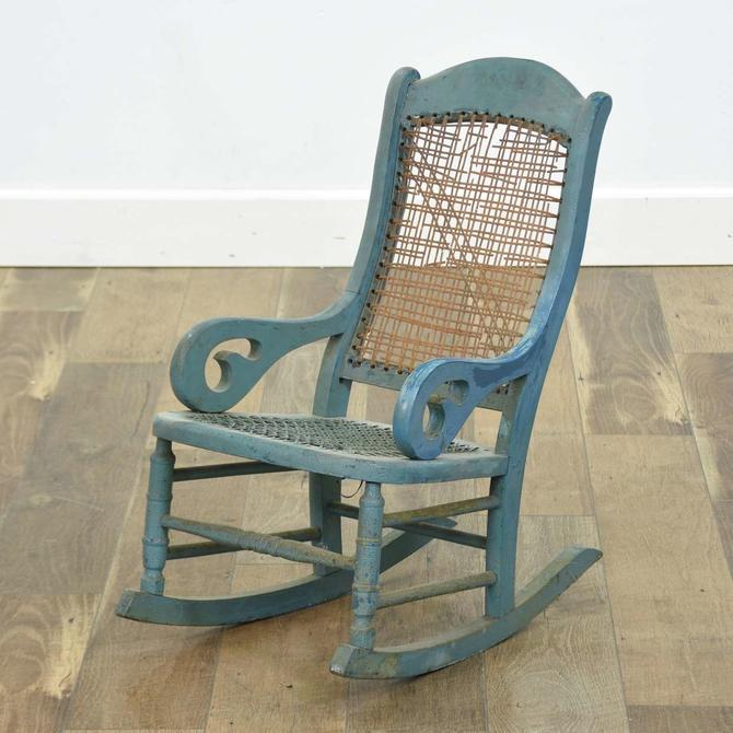 French Provincial Teal Child'S Rocking Chair