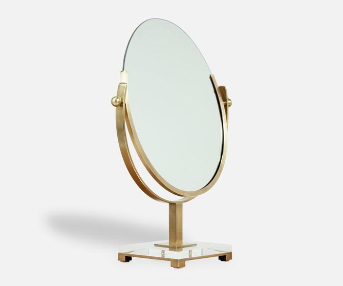 Charles Hollis Jones Double Sided Brass Mirror