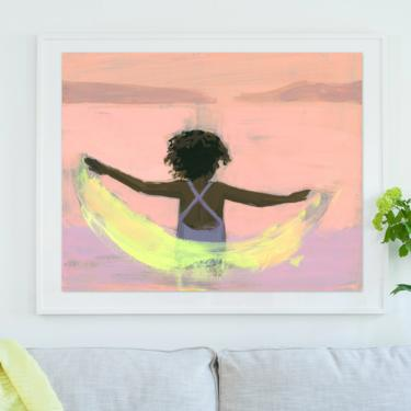 The Movement . extra large wall art . horizontal giclee art print by ClareElsaesser
