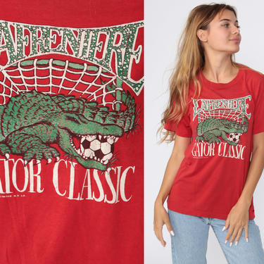 NOLA Soccer Shirt 80s Lafreniere Park Shirt New Orleans TShirt Sports Jersey Graphic T Shirt Distressed Gator Classic Vintage 1980s Small S by ShopExile