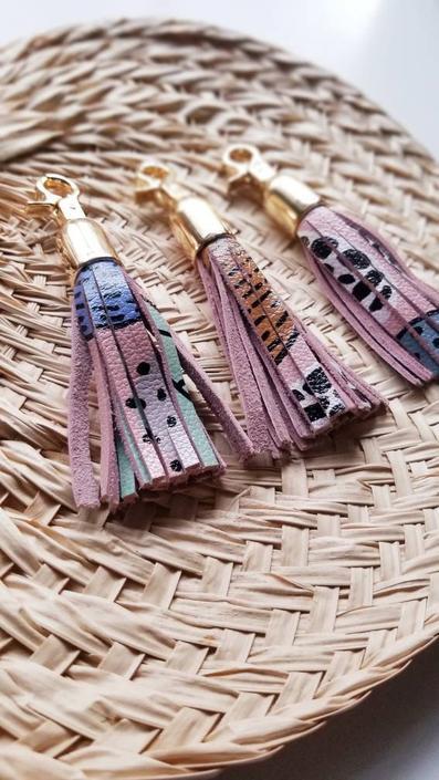 Leather Tassel Key Fob - Suri by rkitekt