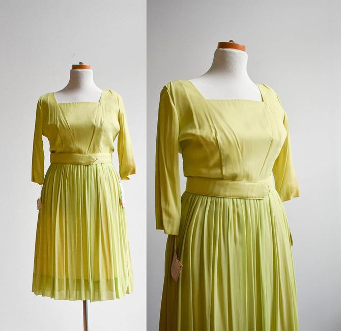 1950s Lime Green Party Dress by milkandice