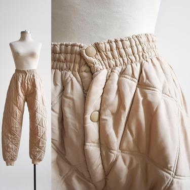 Vintage 60s Tan Quilted Trousers by milkandice