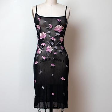 1990s Embroidered Mesh Dress | Vivienne Tam by FemaleHysteria