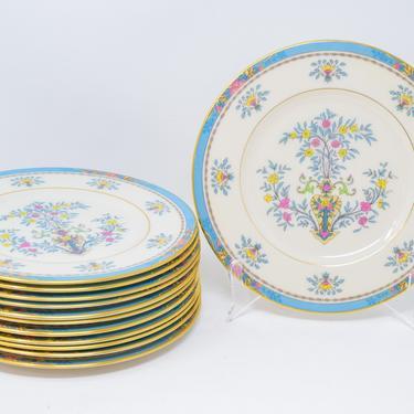 Set of 13 Blue Tree Pattern Salad Plates by Lennox by CapitolVintageCharm