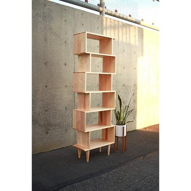 OFFSTACK Bookcase, Mid-Century Modern, Bookshelf, Solid Wood (Shown in Maple) by TomfooleryWood