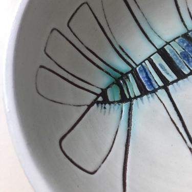 Susana Espinosa Blue Floral Bowl Plate Tray Tile Plaque Vintage Puerto Rico Art Pottery Mid Century Casa Candina Ceramic Studio 1975 by CaribeCasualShop