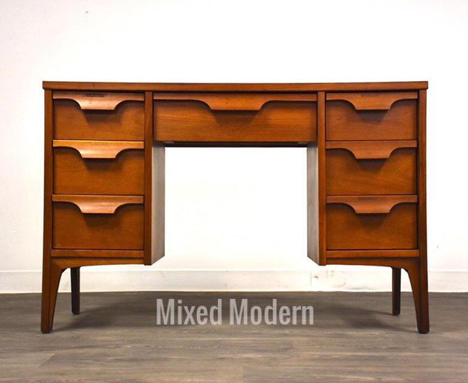 Johnson Carper Walnut and Formica Desk by mixedmodern1