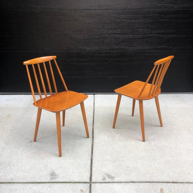 Pair of Folke Palsson J77 Chairs for FDB Møbler by BentwoodVintage