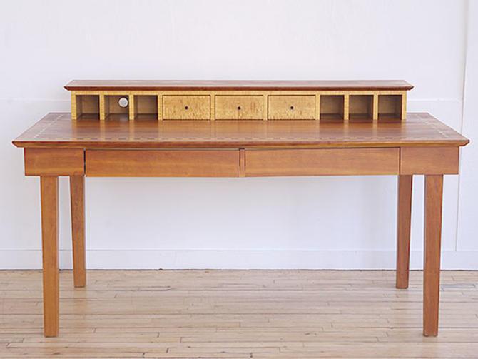 Custom Inlaid Wood Desk