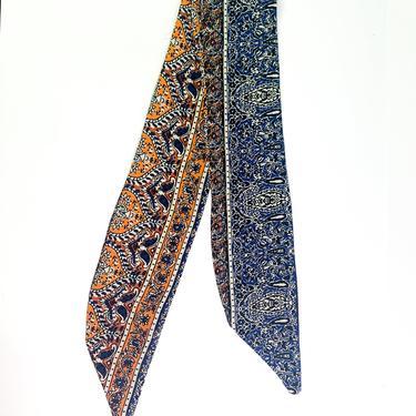 Bohemian Hair Ribbon / Neck Scarf - FAE  -  / Orange  / Blue  / Ponytail holder / Aztec / Tribal   / Adult Woman's Girls by IrisAtelierCouture
