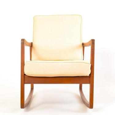 Teak Danish Rocking Lounge Chair