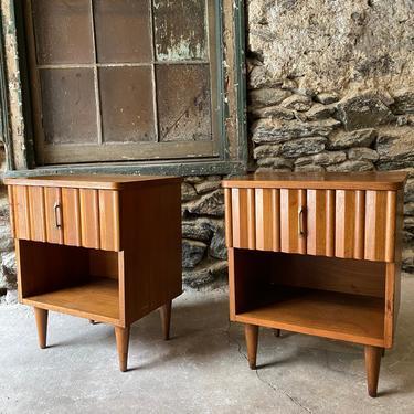 Mid century nightstand Lane nightstands a pair mid century modern end table by VintaDelphia
