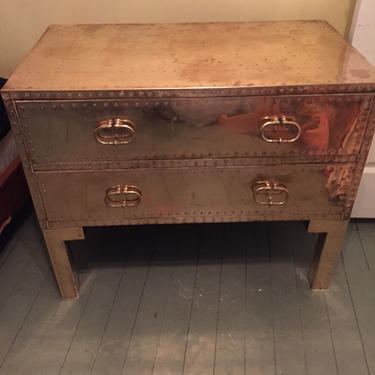 Sarreid brass large dresser with legs by AgentUpcycle