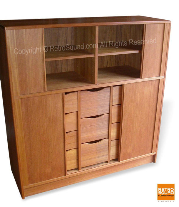 Teak Danish Modern Credenza Bedroom Dresser Gentleman's Chest By Poul Hundevad MCM, Mid Century Modern by RetroSquad