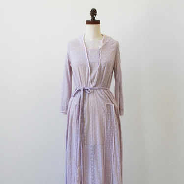 vintage 1920s lilac embroidered cotton dress by blossomvintageshop