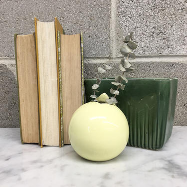 Vintage Vase Retro 1980s Mikasa + Helena Uglow + Modern + Ceramic + Pottery + Pastel Yellow + Small + Round Bud + Home and Shelving Decor by RetrospectVintage215