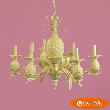 Hollywood Regency Pineapple Chandelier