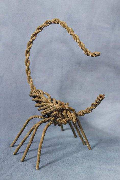 "Vintage 9"" Metal Rebar Wire Scorpion Sculpture, Folk Outsider ..."