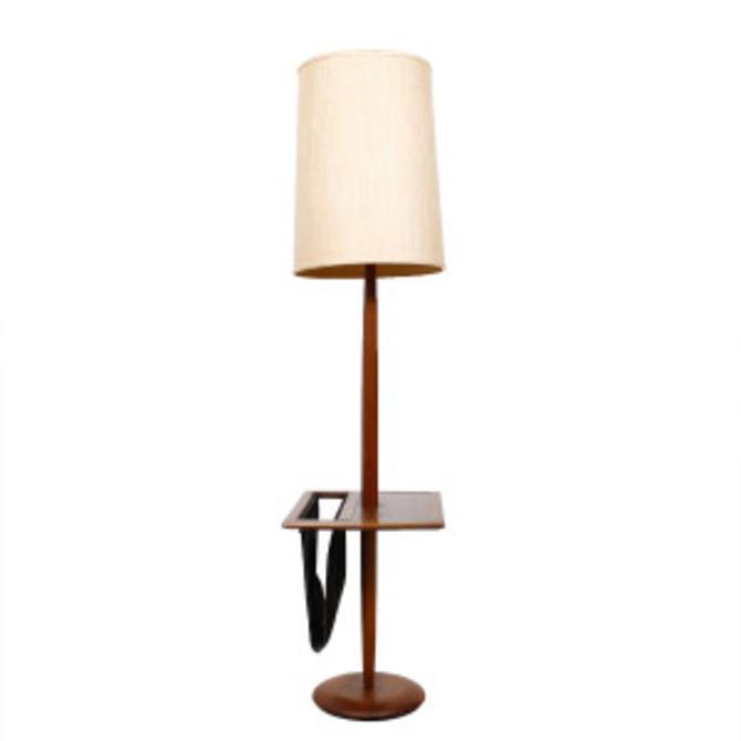 Mid Century Modern Floor Lamp Table Wmagazine Holder From Modern