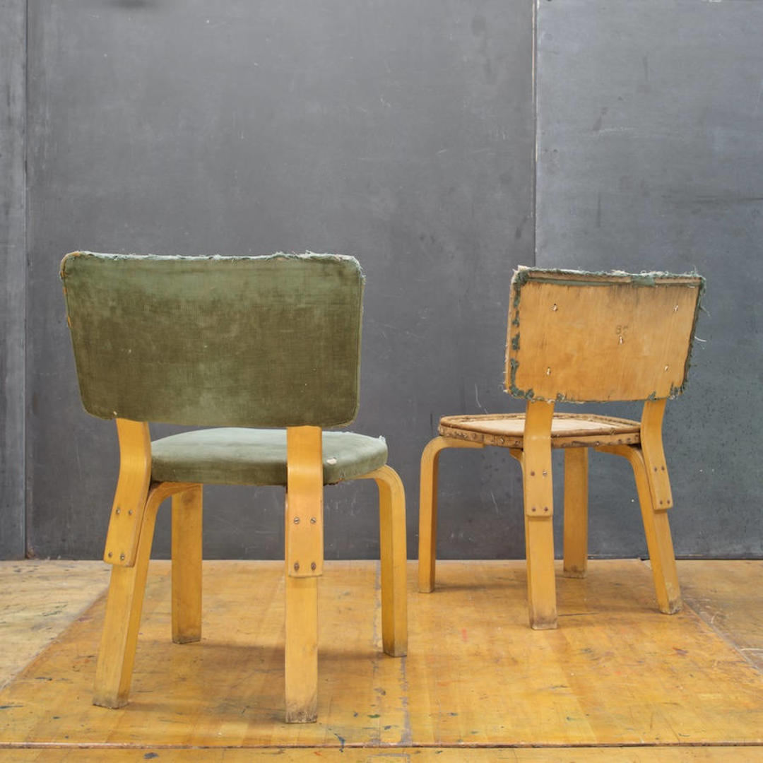 Pair Of Alvar Aalto Rare Model 62 Bentwood Dining Chairs Vintage Art Deco Mid Century Thonet