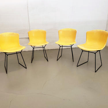 Mid Century Set of Four Harry Bertoia for Knoll Fiberglass Shell Chairs by ProRefineFurnishings