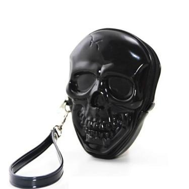 Smiling Skull Zippered wristlet by AllMyItems