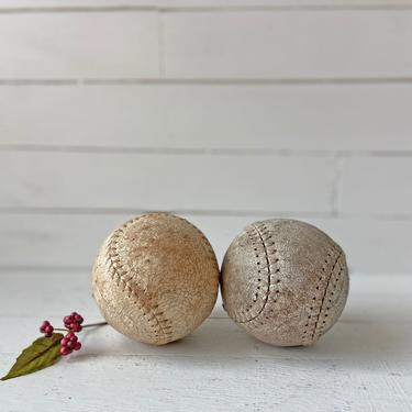 Vintage Pair Of Old, Worn Baseballs, Sold Individually // Baseball Display, Collector // Baseball Photo Prop // Baseball Lover, Gift by CuriouslyCuratedShop