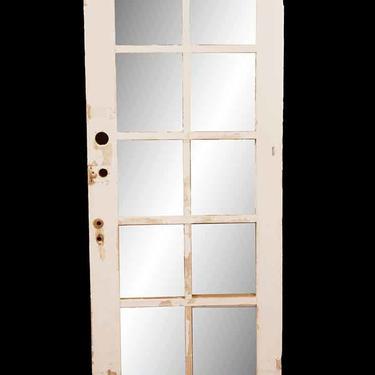 Antique 10 Lite Wood French Door 78.5 x 29.75