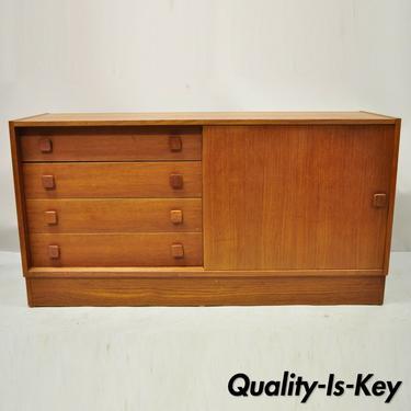 Domino Mobler Mid Century Danish Modern Teak Wood Small Credenza Cabinet