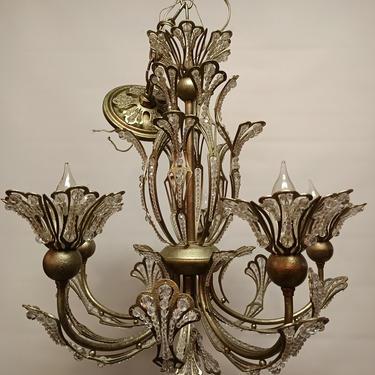 Super sparkly newer 5 arm chandelier