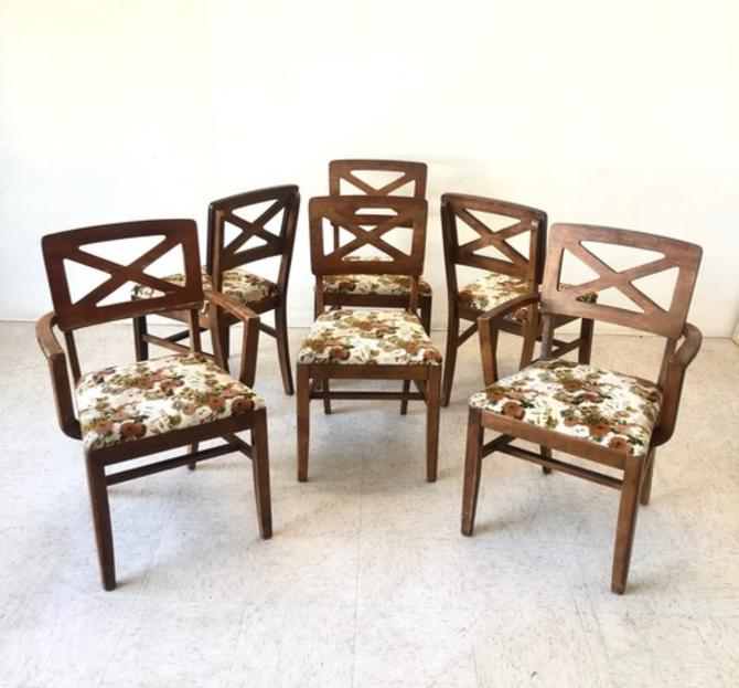 Vintage Dining Chairs New Upholstery