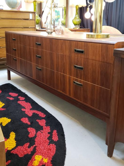 Mid-century Modern 9-drawer dresser or buffet